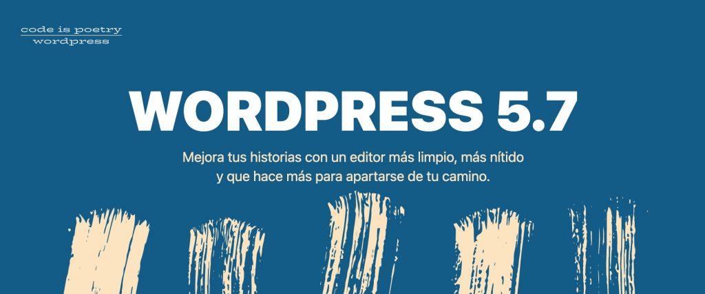 Nueva versión de WordPress 5.7