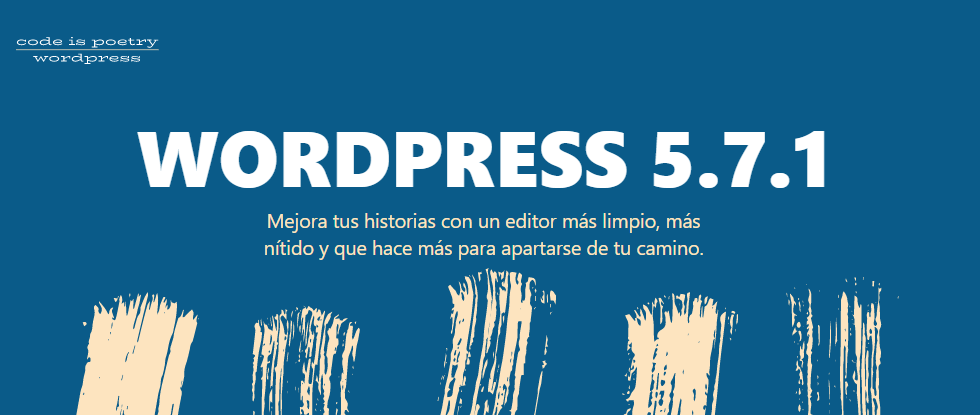 WordPress 5.7.1 disponible