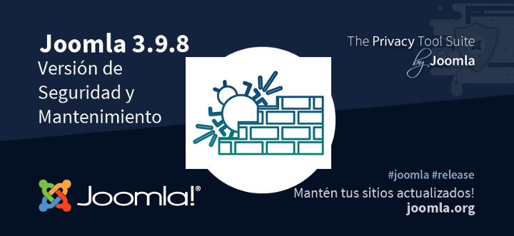 Actualización Joomla 3.9.8 disponible